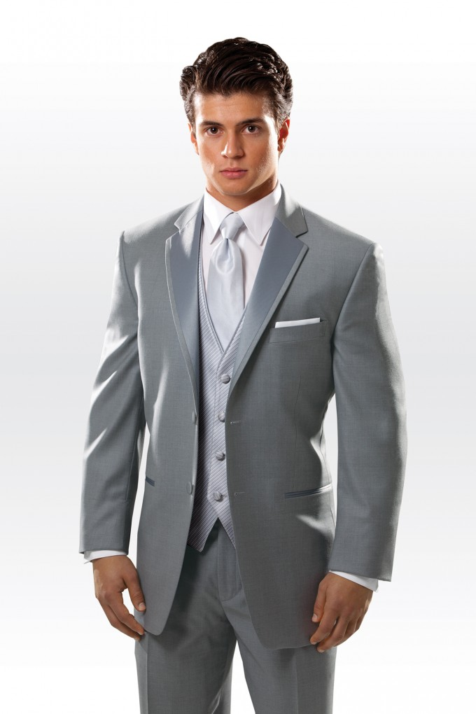 Sterling Grey Madison Tuxedo by Perry Ellis