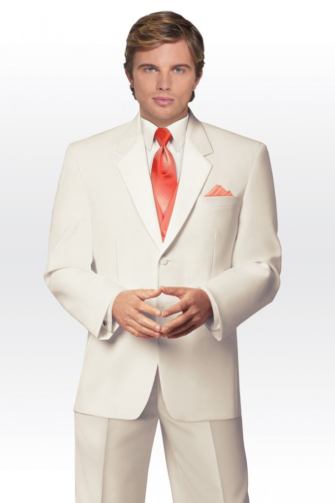 Classic 2 Button Ivory Notch Tuxedo by Erik Lawrence